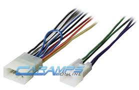 radio stereo cd player reverse wire wiring harness plug connector toyota car stereo cd player wiring harness wire adapter for a aftermarket radio