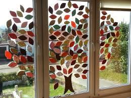 Herbstdeko Fensterbilder Herbst Grundschule Herbst