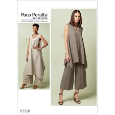 Tunic Pattern Awesome Misses Pullover Tunic With Uneven Hem And WideLeg Trousers Vogue