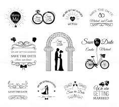 Wedding Invitation Template Vintage Design Elements Wedding Set
