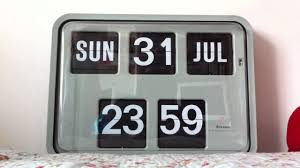 grayson wall flip clock time day date flip