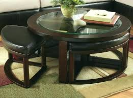 coffee table with 4 ottomans round cocktail w beyond within ottoman home creek hydraulic lift storage coff