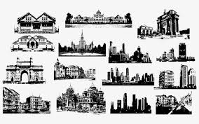 famous architectural buildings black and white. Modren Architectural Famous Attractions Black And White Attractions Building Black And White  PNG Vector For Famous Architectural Buildings