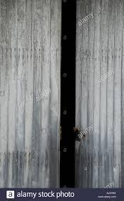 old wooden door ajar stock image