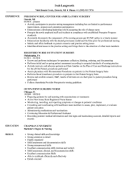 Surgery Nurse Resume Samples | Velvet Jobs