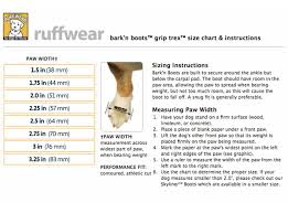 Ruffwear Size Chart Ruffwear Grip Trex Dog Boots Improve Traction Protect Paws For Tripawds
