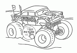 Monster Truck Avenger Coloring Page For