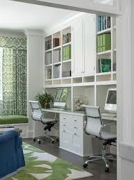 gray office ideas. Study Room - Mid-sized Transitional Built-in Desk Dark Wood Floor Gray Office Ideas U