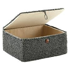 Decorative Cardboard Storage Boxes With Lids Decorative Storage Bins With Lids Grey Crochet Storage Box With 97