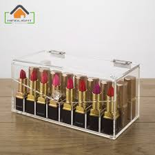 Acrylic Lipstick Storage Box (partition inside is removable) Cosmetic  Organizer Acrylic Makeup Case Acrylic containers F007 3-in Storage Boxes &  Bins from ...