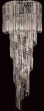 toronto chrome 14 light clear crystal spiral chandelier