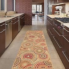diagona designs contemporary abstract circles design modern non slip area rug runner 20 w x 59 l beige