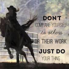 Barrel Racing Quotes Fascinating Comparisin' Is The Opposite Of Destiny Robert Madu Western