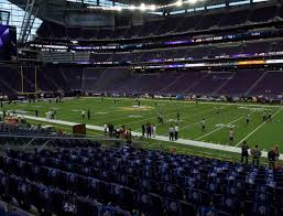 Us Bank Seating Chart Vikings U S Bank Stadium Section 129 Seat Views Seatgeek