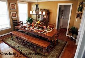 country style dining rooms. Breathtaking Farm Table Dining Room 45 Pine And Bench Country Style Rooms