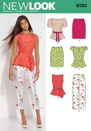 Top Patterns Simple 48 New Look Pattern Misses Peplum Top And Crop Trousers