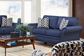 blue living room furniture sets. Contemporary Accent Chairs For Living Room Navy Blue Fabric Arms Sofa Sets Regtangle Oak Wood Coffee Furniture I