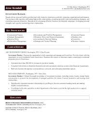 Personal Banker Sample Resume Investment Banking Resume Examples
