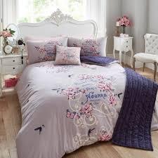 bed in a bag 5pc bedding duvet quilt cover set perfume label purple velvet