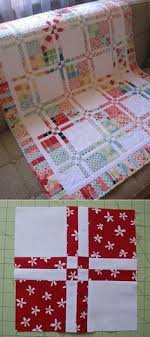 How to make quilts with charm packs -clever trick. I have this on ... & Baby quilt: Tin Whistle: Disappearing four patch quilt {WIP 9 of Adamdwight.com