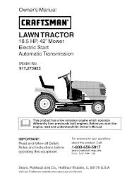 craftsman lawn mower 917 273823 user guide manualsonline com Mastercraft Lawn Tractor Wiring Diagram Mastercraft Lawn Tractor Wiring Diagram #35 craftsman lawn mower wiring diagram