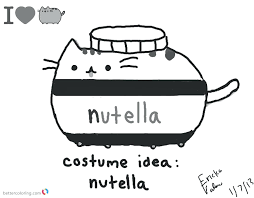 Pusheen Cat Coloring Pages Ayushseminarmahainfo