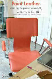 paint any leather surface easily and permanently with decorative chalk paint by annie sloan i