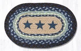 blue stars 81 312bs oval accent mat 10x15