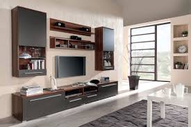 Hidden Tv Cabinets Hidden Flat Screen Tv Wall Cabinet Made Of Particle Wood In Brown
