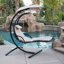 hanging helicopter dream lounger chair arc stand swing hammock chair canopy tan in home garden yard garden outdoor living patio garden furniture