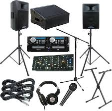 sound system rental. a 2 speaker sound system, including amplifier up to 500 watts of output, mixer and twin cd player console, input for your ipod, cordless microphone system rental
