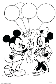 Mickey Mouse Coloring Pages To Print For Free Minnie Printable