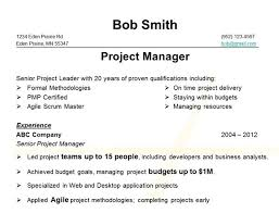 Picking up Bob's new resume, the reader immediately sees he's a Project  Manager. The right kind of person for the job OK keep reading. Key skills  and ...