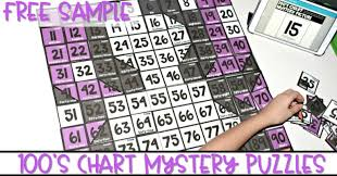 Interactive 100 Chart Free Hundreds Chart Puzzles For The Whole Year And A Free Sample