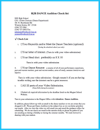 Audition Resume Sample Free Resume Example And Writing Download