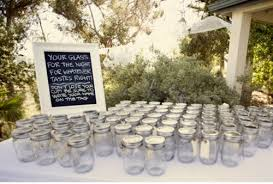 Decorating Mason Jars For Drinking Wedding Decor That Is Funlay Out All The Mason Jars With A 48