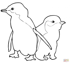 Small Picture Adult penguins coloring page Penguins Coloring Pages Free Cute