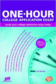 com one hour college application essay write your college  com one hour college application essay write your college admission essay today 9781593574758 jan melnik books