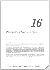 sample content chapter 16 designing your own gemstone title page