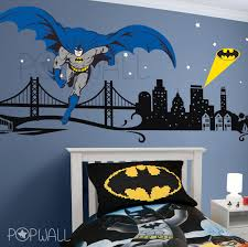 batman wall decal super hero cityscape avengers wall sticker for with regard to batman wall decals