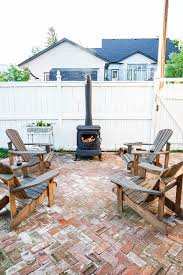 Outdoor Wood Burning Fireplace 6 Step Diy Guide Using Rustoleum Spray Paint Vintage Society Co