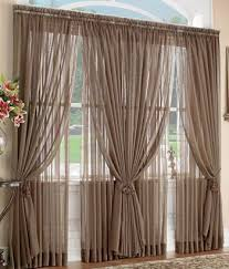 Like this style but maybe with contrasting colours or patterned drapes and  bright matching sheers. Double Window CurtainsSheer ...