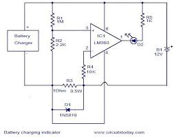 simple indicator wiring diagram Simple Indicator Wiring Diagram battery charging indicator circuit electronic circuits and simple motorcycle indicator wiring diagram