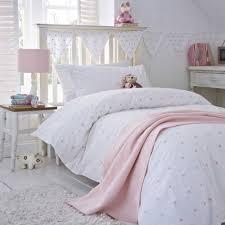 Stars Pink Cot Bed Duvet Cover & Stars Pink Cot Bed Pillowcase Adamdwight.com