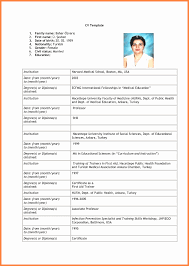 Resume Empty Format New Resume Resume Blank Forms To Fill Out Free