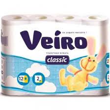 <b>Туалетная Бумага Veiro Classic</b> белая 2 слоя (12 шт) - купить по ...
