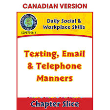 Daily Social Workplace Skills Texting Email Telephone Manners