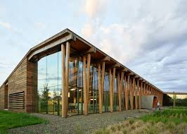 Wooden office buildings Sustainable Old Wooden Barns Inform Graham Babas Office Building For Washington Fruit Company Pinterest Old Wooden Barns Inform Graham Babas Office Building For Washington