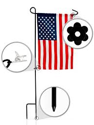 garden flag stands. Complete Garden Flag Set And American By Greenwer 32 Inch Sturdy Metal Wrought Iron Stands