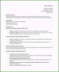 Student Resumes Template High School Resume Template Magnificent 10 High School